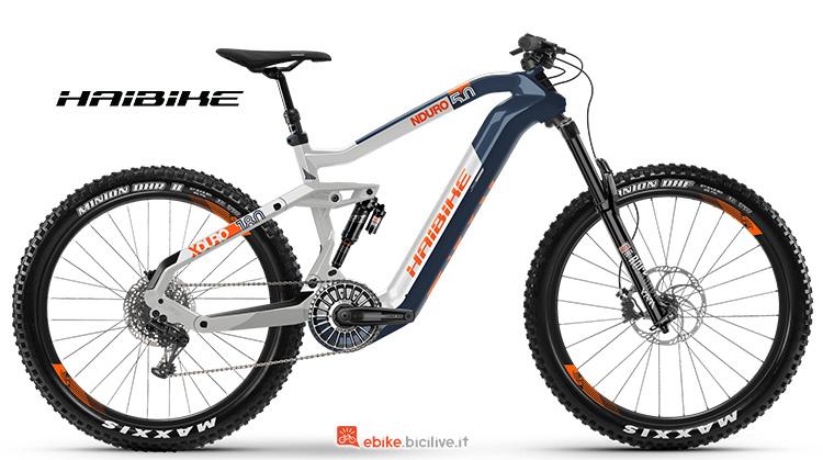Bicicletta elettrica Haibike XDURO NDURO 5 gamma 2019
