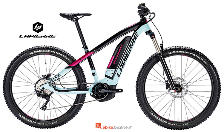 Bicicletta elettrica da donna Lapierre Overvolt HT 500 W catalogo 2019