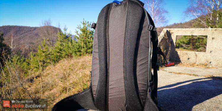 foto dello schienale dello zaino xlc
