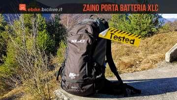 foto dello zaino porta batteria xlc