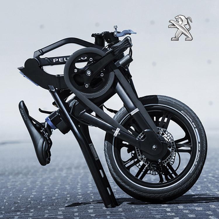 La bici elettrica Peugeot eF01 piegata