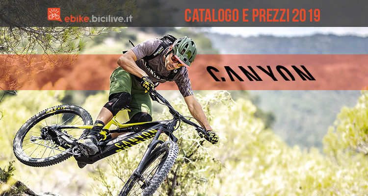 Le eBike Canyon del 2019: catalogo e listino prezzi