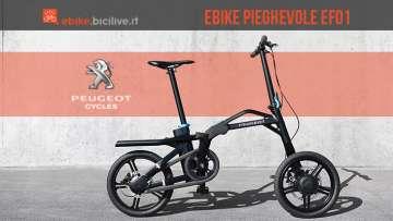 eF01, la prima e-bike pieghevole di Peugeot per un nuovo concetto di mobilità