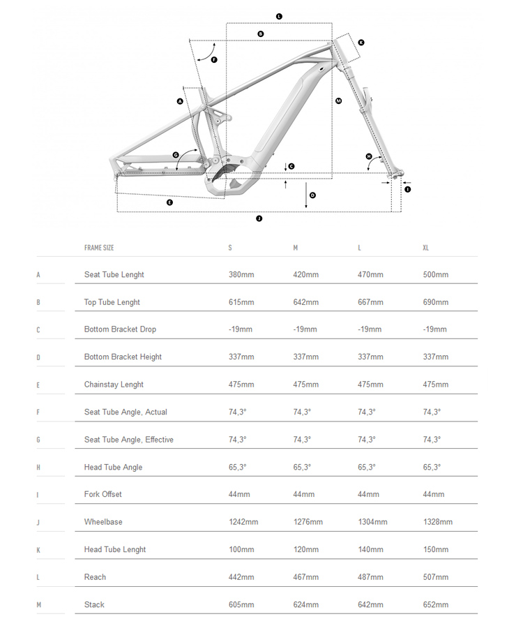 Geometrie Mondraker Crafty RR+ 2019