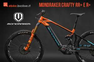 Mondraker Crafty RR+ e R+ 2019, una eMTB tra l'all mountain e l'enduro
