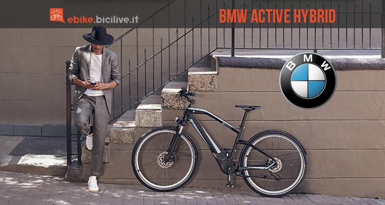 bmw active hybrid e bike bici elettrica urbana da passeggio. Black Bedroom Furniture Sets. Home Design Ideas