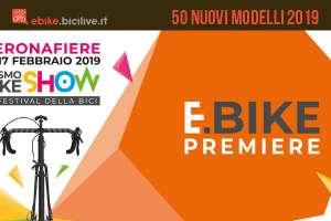 Ebike Premiere 2019: 50 modelli in esposizione