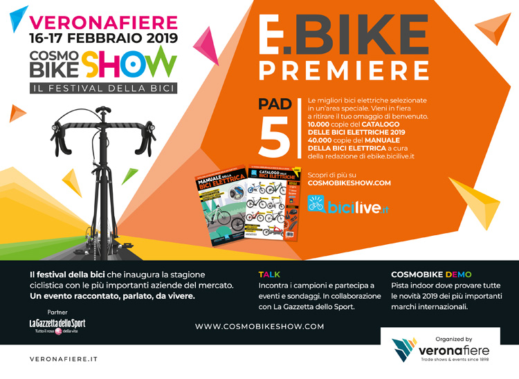 La locandina dedicata a eBike Première