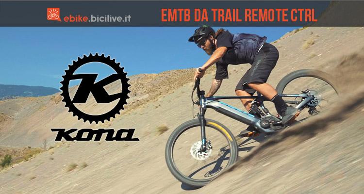 mtb elettrica da trail Kona Remote CTRL