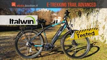 foto della trekking elettrica italwin trail advanced