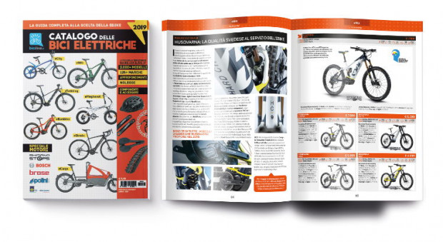 Copertina e interno del Catalogo delle Bici Elettriche 2019