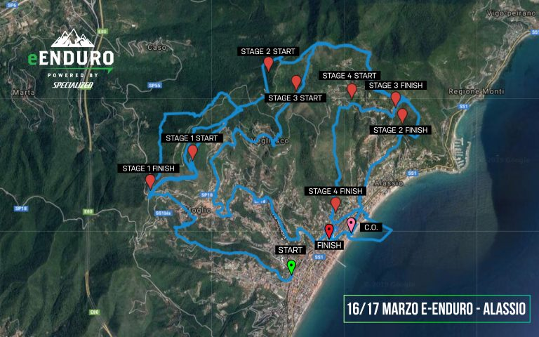 Campionato e-Enduro 2019 percorsi Alassio