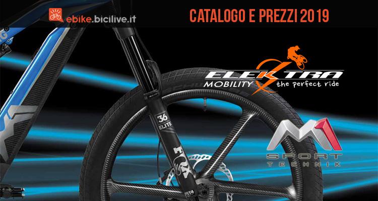 Le ebike M1 Sport Technik 2019 di Elektra Mobility: catalogo e listino prezzi