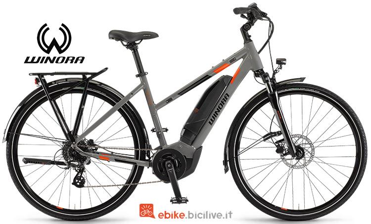 Bicicletta elettrica winora Yucatan 8 gamma 2019