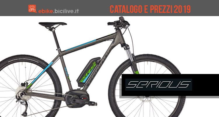 Catalogo e listino prezzi e-bike Serious 2019