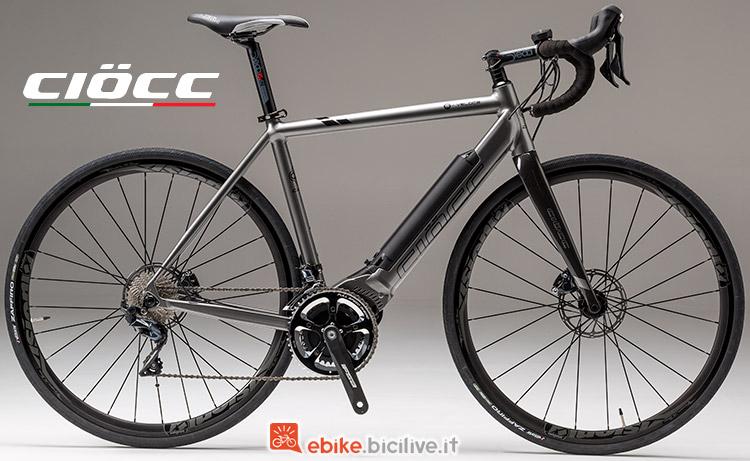bicicletta elettrica CIOCC È-veloce Road Alluminio Disc serie 2019
