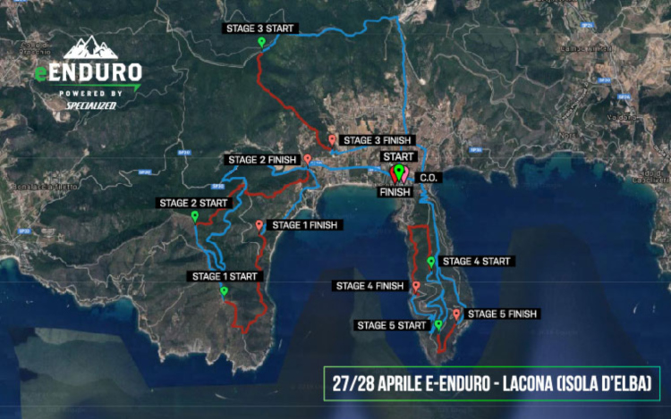Mappa eprcorsi Lacona e-Enduro 2019