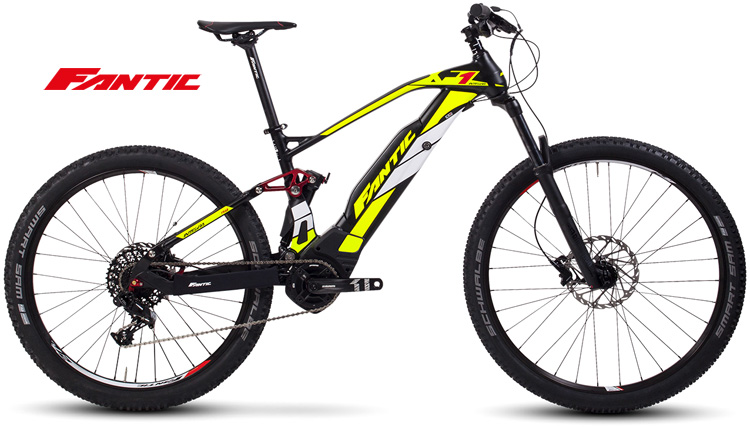 Una e-bike biammortizzata da trail Fantic XF1 Integra 140