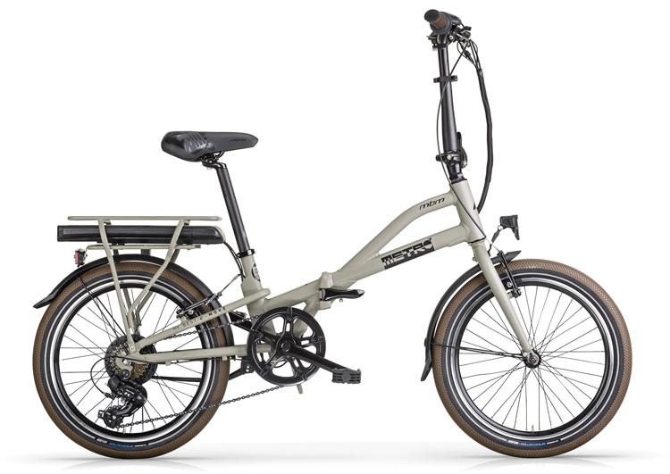 Una bicicletta elettrica pieghevole Cicli MBM E-Metro