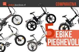 5 bici elettriche pieghevoli sotto i 1600 euro a confronto