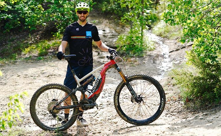 Davide Allegri prova la Ducati Mig-RR 2019