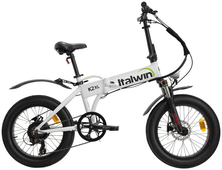 Una bicicletta a pedalata assistita pieghevole Italwin K2 XL