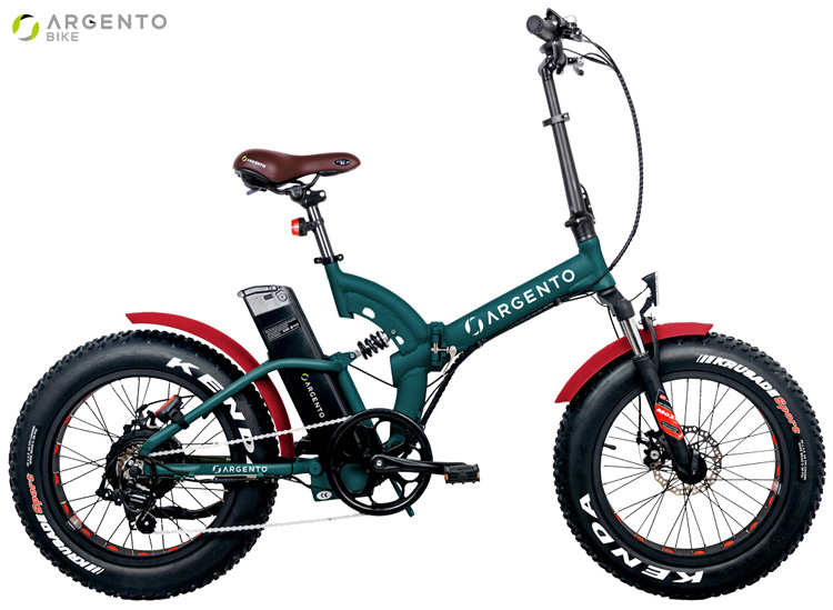 Una bici a pedalata assistita pieghevole Argento Bike Bimax XL