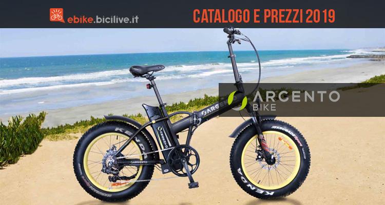 Tutte le bici elettriche 2019 Argento Bike: catalogo e prezzi