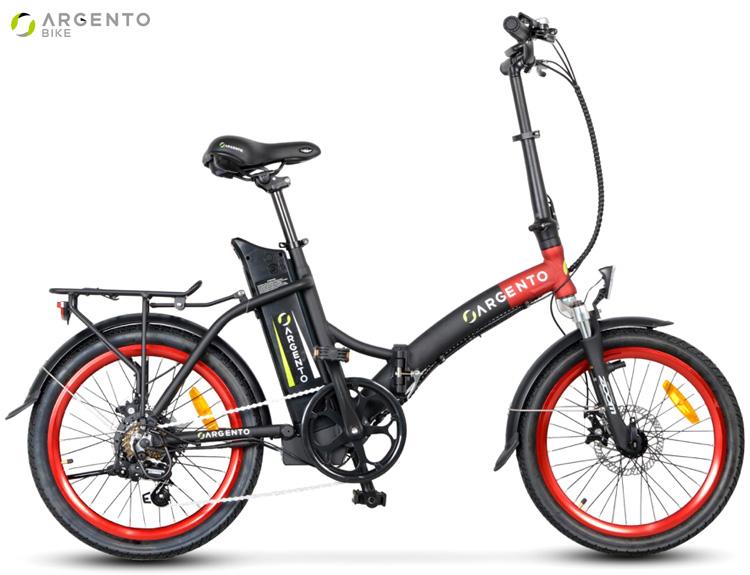 Una ebike pieghevole Argento Bike Piuma