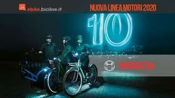 ebike bosch dieci anni gruppo in bici nuova linea motori 2020