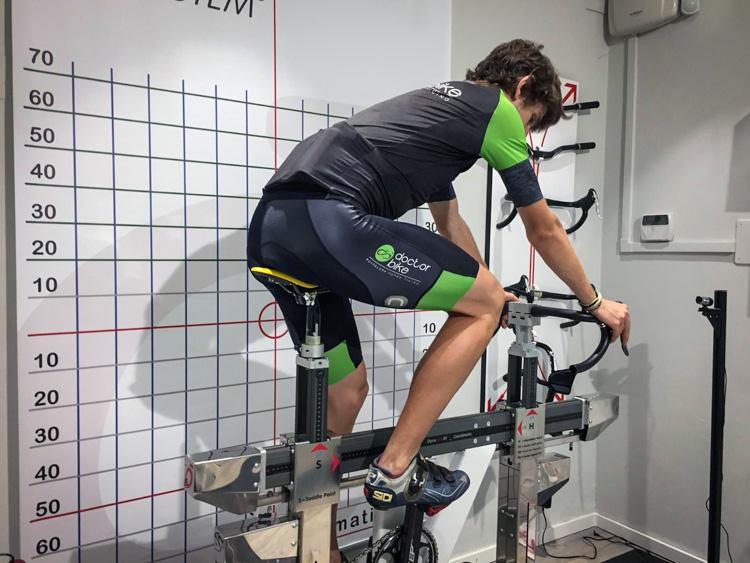 foto del posizionamento bici di doctorbike