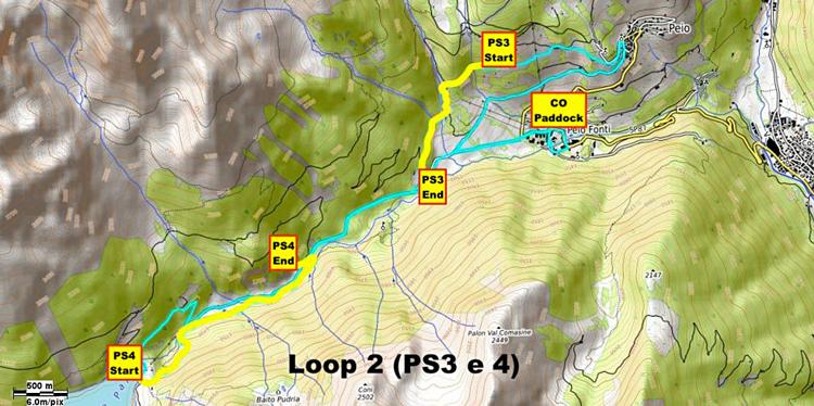 Il tracciato del secondo loop della gara di e-Enduro di Pejo