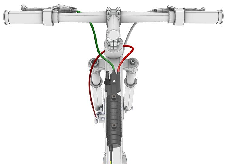 ebike sitema abs integrato telaio geometrie bici dall'alto manubrio 2019