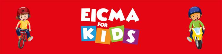 Il logo dell'evento EICMA for Kids