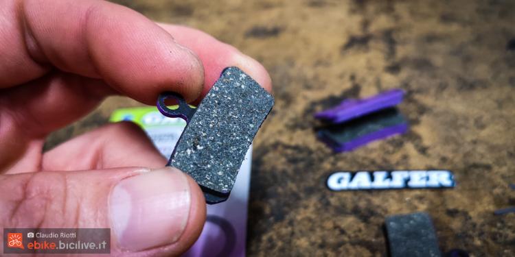 foto delle pastiglie Galfer Violet specifiche per eMTB.