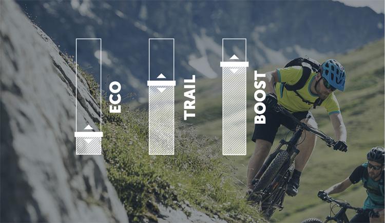 Le tre modalità Eco, Trail e Boost dei motori per mtb elettriche Shimano STEPS