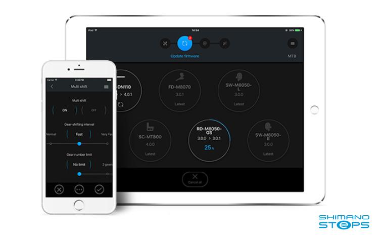 Shimano E-Tube Project installato su Smartphone e Tablet