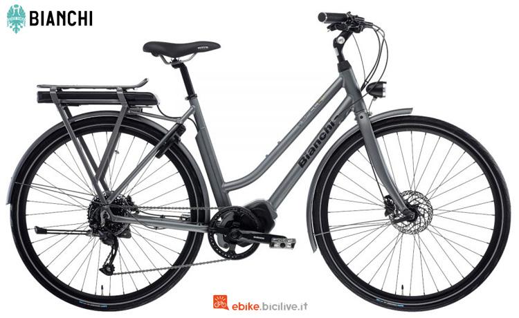 Una bici elettrica da città E-Spillo Luxury Altus 9v Lady