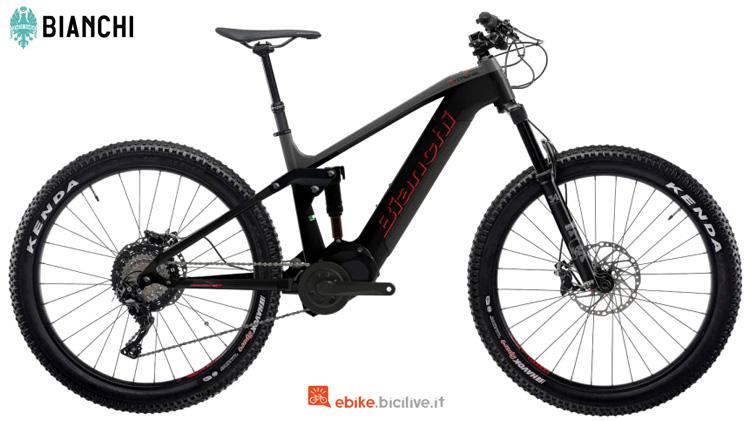 La mtb elettrica Bianchi T-Tronik Rebel 9.2 gamma Lif-E 2020