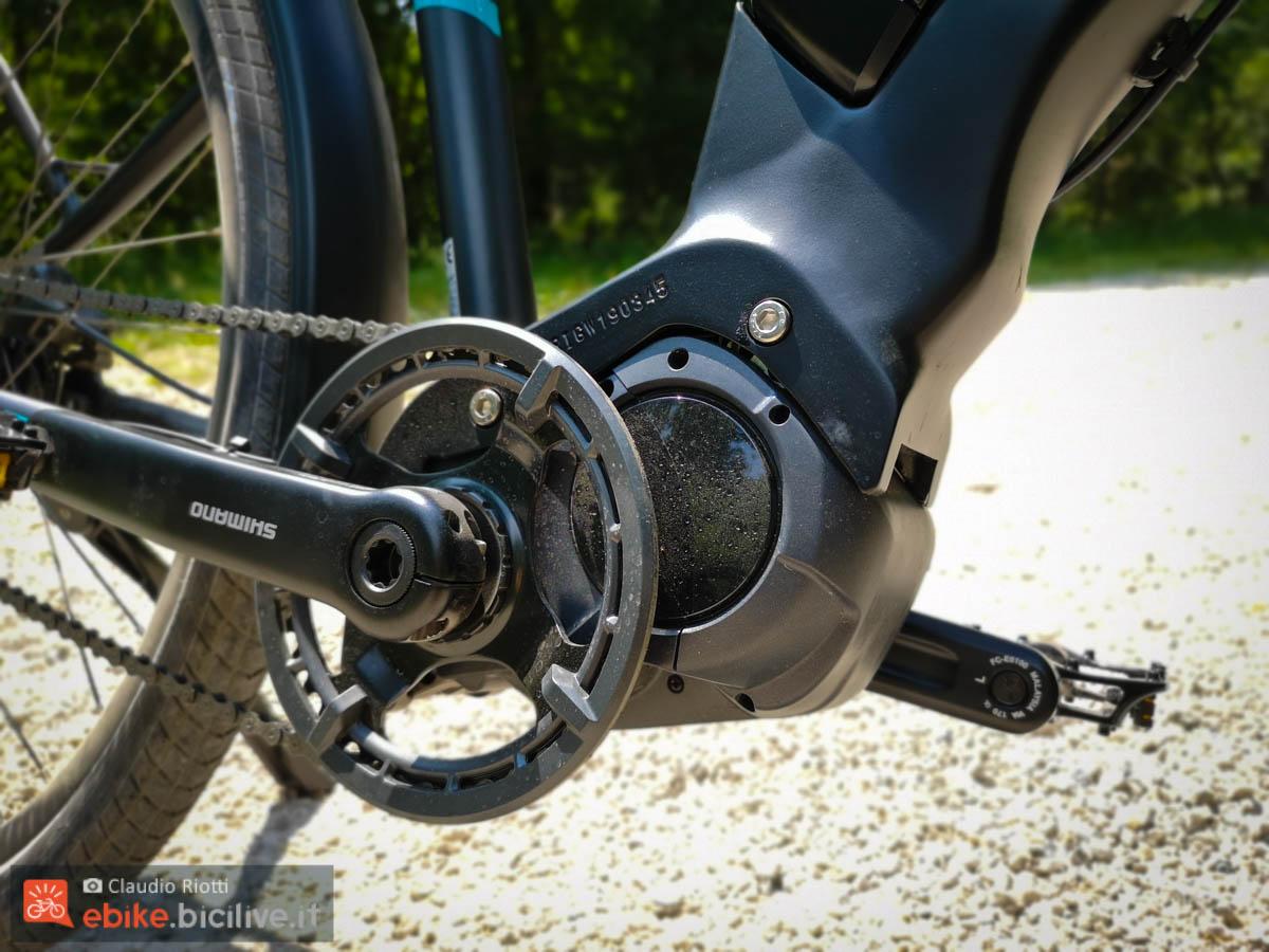 foto del nuovo motore Shimano E6100 più compatto del precedente E6000.