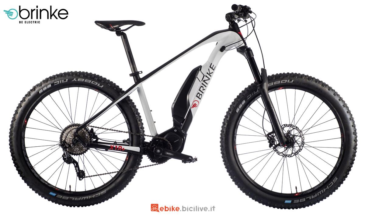 Una mtb a pedalata assistita Brinke X1R+