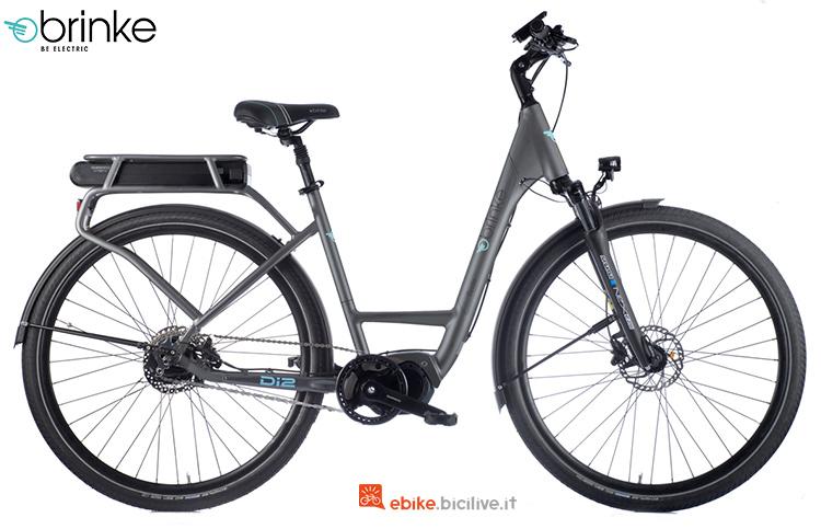 Una bici elettrica Brinke Elysee evo di2 cambio automatico