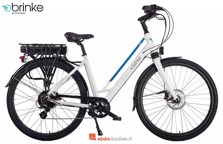 Una bicicletta elettrica Brinke Life Comfort