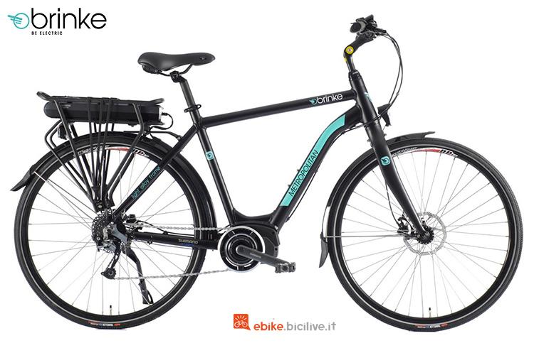 Una bici elettrica da città Brinke Metropolitan