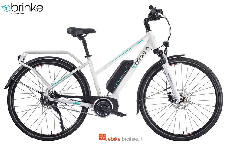 Una e-bike da trekking Brinke Rushmore 2 Di2 Comfort con cambio automatico