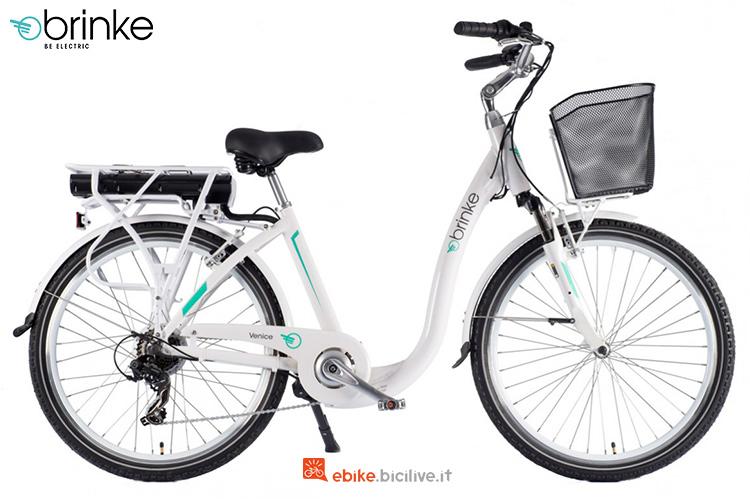 Una bici elettrica da passeggio Brinke Venice