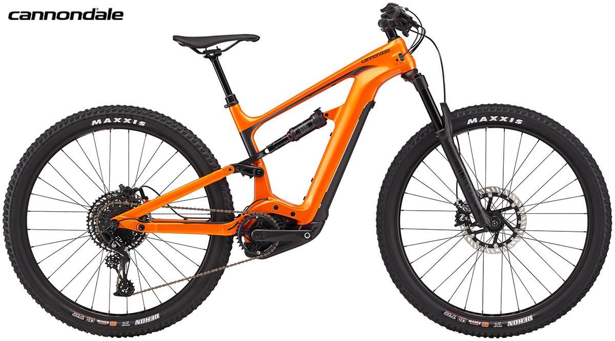 La emtb Cannondale Habit Neo 3 di colore arancione