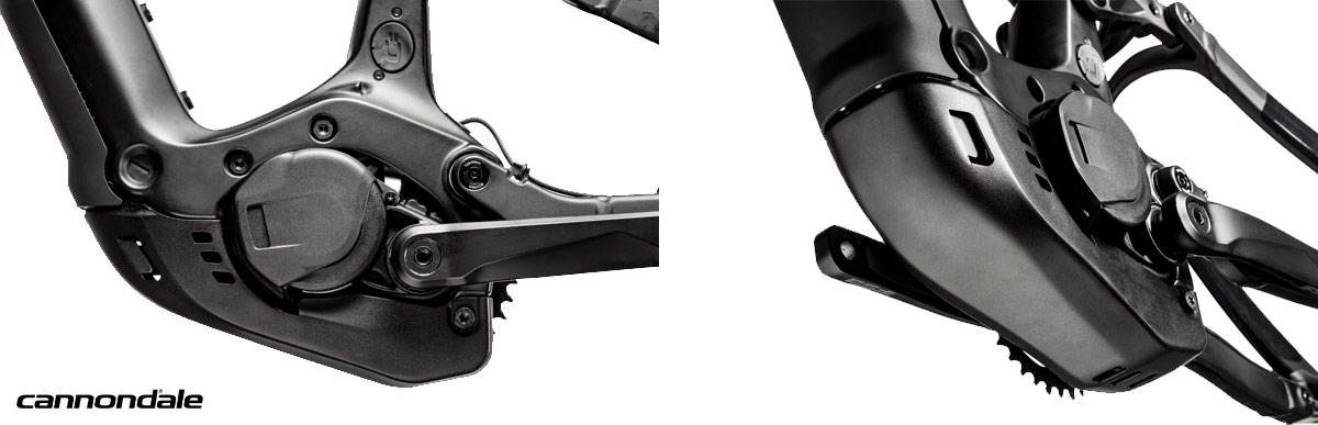 Cannondale Habit Neo particolare del motore e delle protezioni