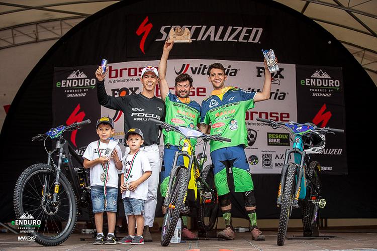 podio val di pejo 2019 e-Enduro