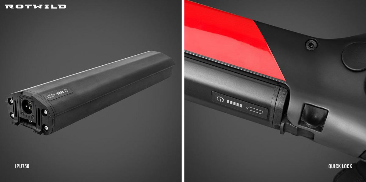 La batteria integrata estraibile della Rotwild R.X750